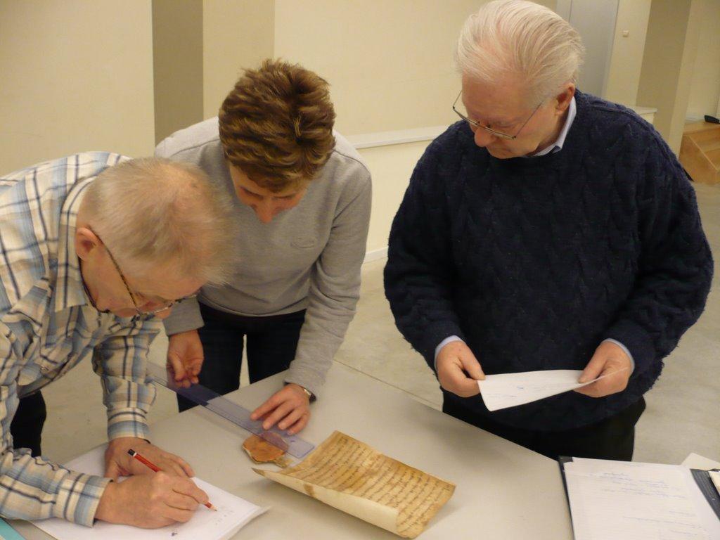 Vrijwilligers werken aan de charters